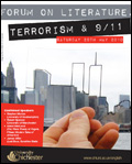 poster for the Forum on Literature, Terrorism and 9/11